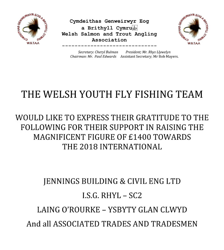 Welsh Youth Fly Fishing Team